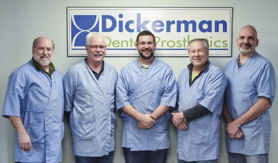 Team at Dickerman Dental Prosthetics